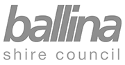 Logo ballina shire council grey