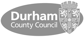 Logo durham county council grey