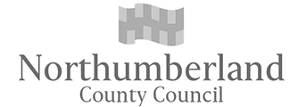 Logo northumberland county council grey